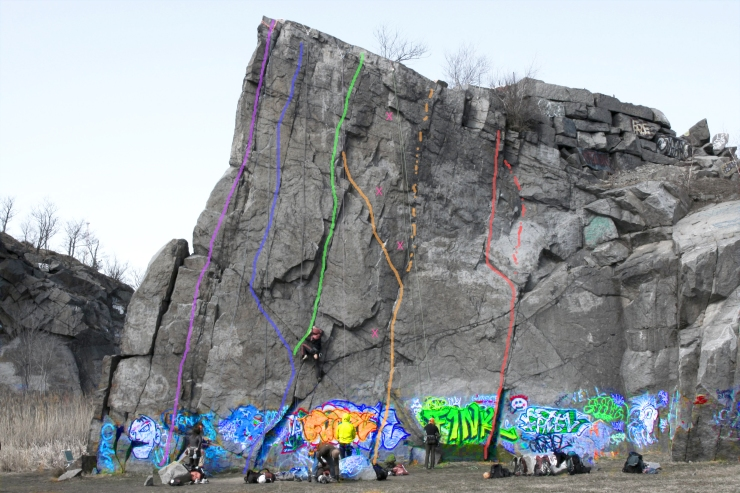 K Wall, Quincy Quarries, Massachusetts
