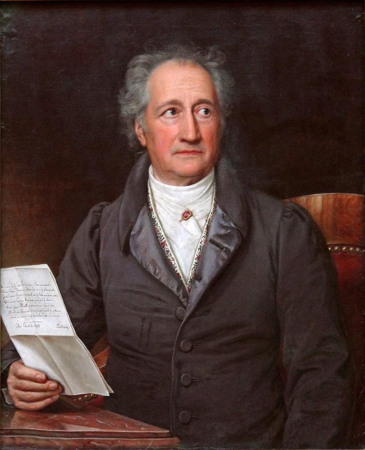 Ritratto di Goethe, da cui il Cafone ha attinto a piene mani nel suo diario (Joseph Karl Stieler, 1828)