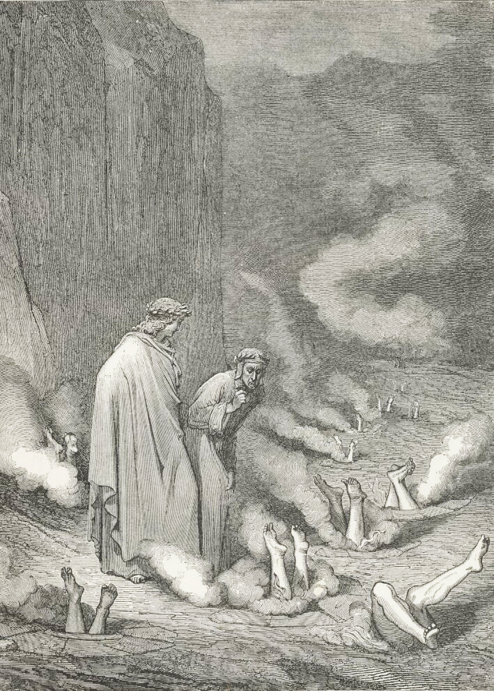 Gustave Doré, La bolgia dei simoniaci