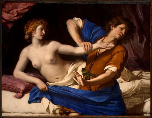 Guercino, La Moglie di Putifarre, dal racconto biblico Genesi, 39, 6-20
