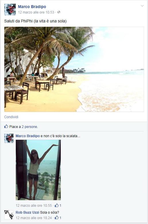 Il post de Bradipo da Phi Phi Island (Tailandia) con al sua dolce compagnia